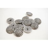 Пуговица металлическая на ножке костюмно-пальтовая серебряная фактурная 27 мм PRT-(L)- 08102016
