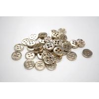 Пуговица металлическая рубашечно-плательная желтовато-серебряная 10 мм PRT-(L)- 08102018