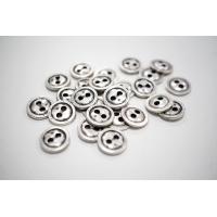 Пуговица металлическая рубашечно-плательная серебряная с чернением 13 мм PRT-(L)- 08102019