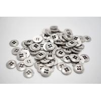 Пуговица металлическая рубашечно-плательная серебряная 10 мм PRT-(L)- 08102020
