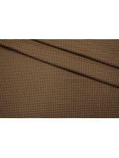 Костюмное шерстяное сукно гусиная лапка коричневая SR-X2 09112006