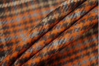 Костюмное шерстяное сукно гусиная лапка рыже-коричневая SR-X2 09112007