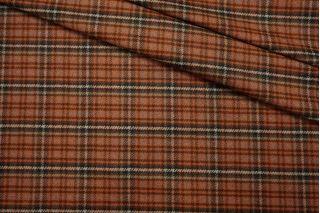 Костюмное шерстяное сукно гусиная лапка рыже-коричневая SR-CC7 09112007