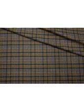 Костюмное шерстяное сукно в клетку бежево-зеленое SR-X2 09112008