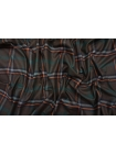 ОТРЕЗ 2,6 М Костюмное шерстяное сукно в клетку темно-коричневое SR-(50)- 09112009-1