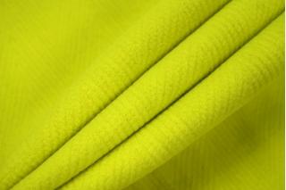 Шерсть пальтовая елочка кислотная желто-зеленая SR 09112010
