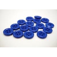 Пуговица костюмно-плательная пластик синяя 15 мм PRT-(D)- 24082016