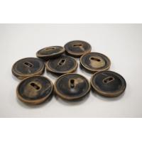 Пуговица костюмная пластик-дерево коричневая 22 мм PRT-( J )- 24082039