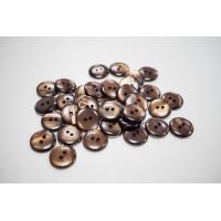 Пуговица костюмно-рубашечная пластик коричневый перламутр 17 мм PRT-(B)- 24082051