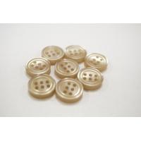 Пуговица плательно-рубашечная пластик золотистая перламутр 12 мм PRT-(P)- 24082079
