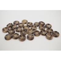 Пуговица плательно-рубашечная пластик бежево-коричневая под рог 10 мм PRT-(P)- 24082082