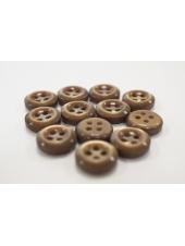 Пуговица плательно-рубашечная пластик золотисто-коричневая 11 мм PRT-(P)- 24082084