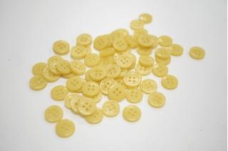 Пуговица плательно-рубашечная пластик желтая 12 мм PRT-(P)- 24082089