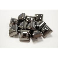 Пуговица на ножке костюмно-пальтовая металл темный никель 17х17 мм PRT-(M)-  27092024