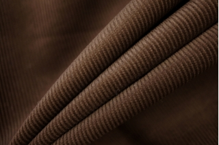 Вельвет хлопковый темно-коричневый PRT-A2 19012027