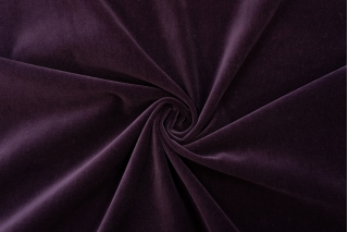 Велюр хлопковый темный сливовый PRT-А7 19012028