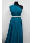 Холодный креповый трикотаж цвет сине-бирюзовый PRT-D4 21012037