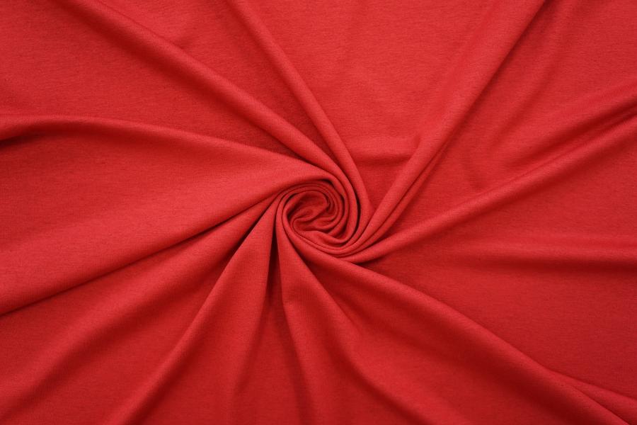 Тонкий трикотаж насыщенный красно-ягодный PRT-N4 21012047