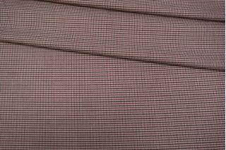 Костюмно-плательная поливискоза гусиная лапка вишнево-черно-белая NST-E5 31082021
