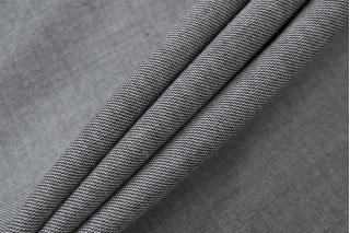 Костюмно-плательная поливискоза с шерстью черно-белая NST-H2 31082022