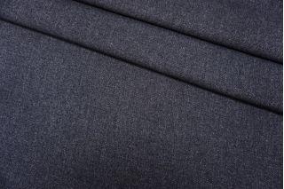 Пальтово-костюмный твид серо-синий продублированный TRC-D7 09102004