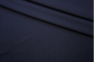Плательная шерсть темно-синяя в полоску TXH-I7 09102009