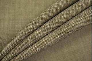 Тонкий костюмный твид шерстяной с шелком оливково-белый TXH-W2 09102024