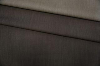 Костюмно-плательная шерсть с шелком черно-зеленая TXH-W2 09102026