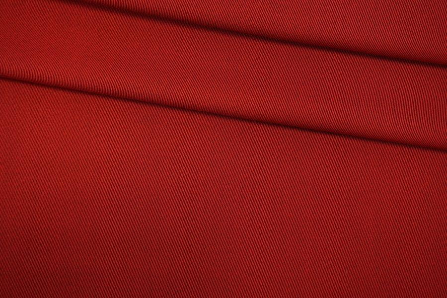 Костюмная шерсть с хлопком красно-черная TRC-G7 09102027