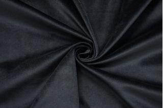 Бархат-стрейч хлопковый черный с синим подтоном SMF-Z4 01122004