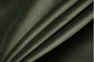 Бархат-стрейч хлопковый приглушенно-зеленый SMF-Z4 01122011