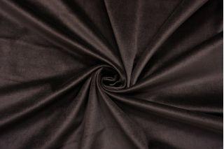 Бархат хлопковый темный кофейно-коричневый SMF-Z4 01122012