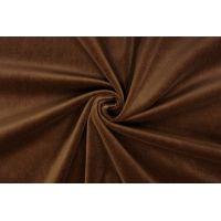 Бархат-стрейч хлопковый коричневый SMF-K60 01122019
