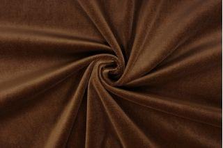 Бархат-стрейч хлопковый коричневый SMF-Z5 01122019