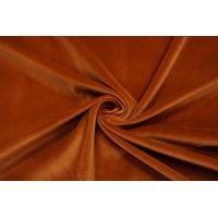 Бархат-стрейч хлопковый рыже-коричневый SMF.H-K50 01122020