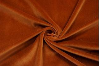 Бархат-стрейч хлопковый рыже-коричневый SMF.H-Z6 01122020