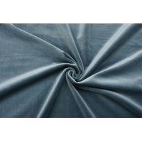 ОТРЕЗ 2,1 М Бархат хлопковый голубая ель SMF-(СТ)- 01122026-1
