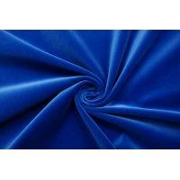 Бархат хлопковый насыщенный синий SMF-K30 01122029