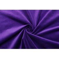 ОТРЕЗ 1 М Бархат хлопковый глубокий фиолетовый SMF-(56)- 01122034-1
