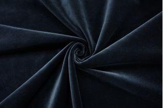 Бархат хлопковый сине-черный SMF.H-Z7 01122035