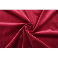 ОТРЕЗ 1,5 М Бархат хлопковый рубиновый SMF.H-(25)- 01122046-4
