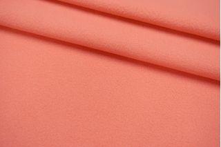 Пальтовый шерстяной велюр Balenciaga дабл нежно-лососевый SVR-EE20 01122049
