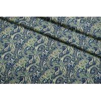 Плательная шерсть огурцы сине-зеленые SVR-E3 01122052