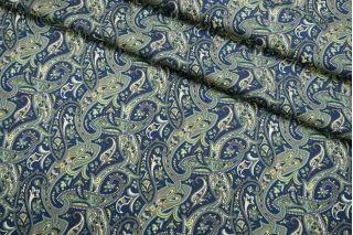 Костюмно-плательная шерсть огурцы сине-зеленые SVR-DD30 01122052
