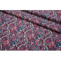 Плательная шерсть огурцы сине-малиновые SVR-E3 01122053