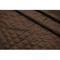 ОТРЕЗ 0,95 М Подкладочная стежка на утеплителе темно-коричневая TRC-(14)- 02122006-2