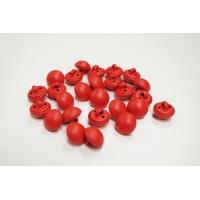 Пуговица костюмно-плательная на ножке пластик красная 12 мм PRT-(H)- 11122023