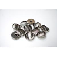 Пуговица на ножке пальтовая металлическая серебряная 30 мм-(I)- 11122029