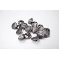 Пуговица на ножке костюмная металлическая темный никель 17 мм-(L)- 11122031