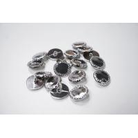 Пуговица на ножке костюмная металлическая серебряная 23 мм-(L)- 11122032